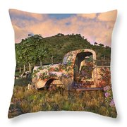 The Old Farm Truck Throw Pillow