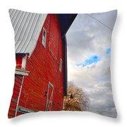 The Old Farmstead Throw Pillow