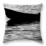 The Old Fishermen Throw Pillow