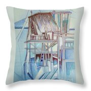 The Old Fishing Shack Throw Pillow