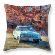 The Old Ford On The Side Of The Road Throw Pillow