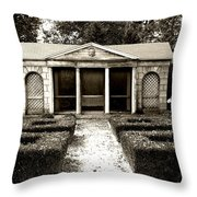 The Old Garden House Throw Pillow
