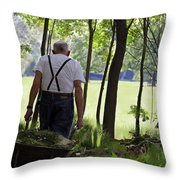 The Old Gardener Throw Pillow