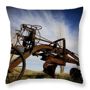 The Old Grader Throw Pillow