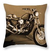 The Old Harley Throw Pillow