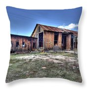 The Old Haunted Barn Throw Pillow