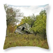 The Old Homestead And Orchard Throw Pillow