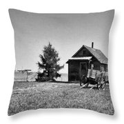 The Old Homestead Paint Throw Pillow