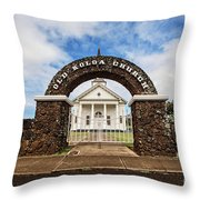 The Old Koloa Church Throw Pillow