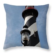 The Old Lantern And The Lighthouse Throw Pillow