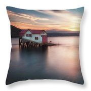 The Old Lifeboat Station At Mumbles Throw Pillow