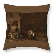 The Old Man And The Maid Throw Pillow