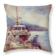 The Old Man And The Sea 01 Throw Pillow