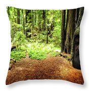 The Old Man In The Forest Throw Pillow