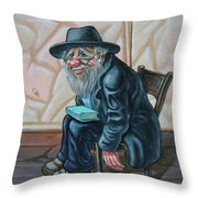 The Old Man Near The Western Wall Throw Pillow