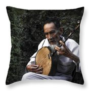 The Old Man Plays Zither Throw Pillow