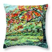 The Old Maple Tree Throw Pillow