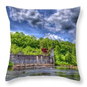 The Old Mckeever Pulp Mill Throw Pillow