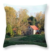 The Old Mill At Guilford II Throw Pillow
