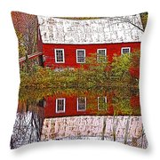 The Old Mill House Throw Pillow
