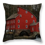 The Old Mill In Clinton Nj Throw Pillow