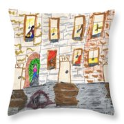 The Old Neighborhood Throw Pillow