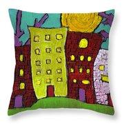 The Old Neighborhood Throw Pillow by Wayne Potrafka