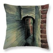 The Old Passageway Throw Pillow