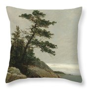 The Old Pine, Darien, Connecticut, 1872  Throw Pillow