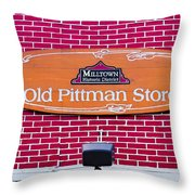 The Old Pittman Store Sign Throw Pillow