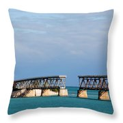 The Old Railroad To The Keys Throw Pillow
