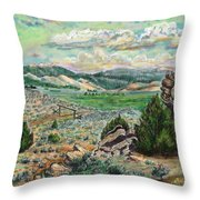 The Old Ranch Gate Throw Pillow