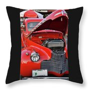 The Old Red Jalopy Throw Pillow