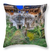 The Old Ruined Castle Throw Pillow