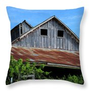 The Old Rusty Barn Throw Pillow
