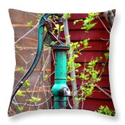 The Old Rusty Water Pump Throw Pillow