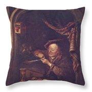 The Old Schoolmaster 1671 Throw Pillow