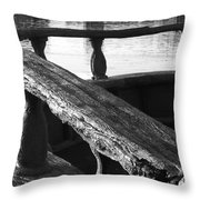 The Old Ships Rail Throw Pillow