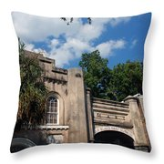 The Old Slave Market Museum In Charleston Throw Pillow