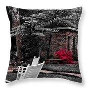 Smokehouse Red Throw Pillow