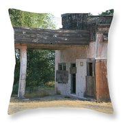The Old Station Throw Pillow