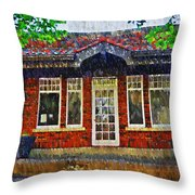 The Old Train Station Throw Pillow