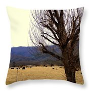 The Old Tree In Winter Throw Pillow