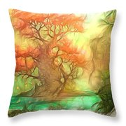 The Old Tree Of The Forest Throw Pillow