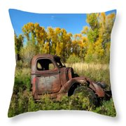 The Old Truck  Chama New Mexico Throw Pillow