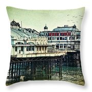 The Old Victorian West Pier Throw Pillow