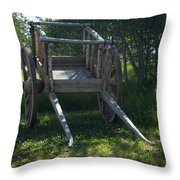 The Old Wagon Throw Pillow