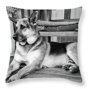 The Old Watch Dog Throw Pillow
