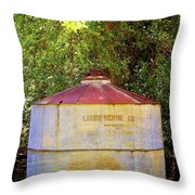 The Old Water Tank Throw Pillow