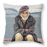 The Old Waterman Throw Pillow